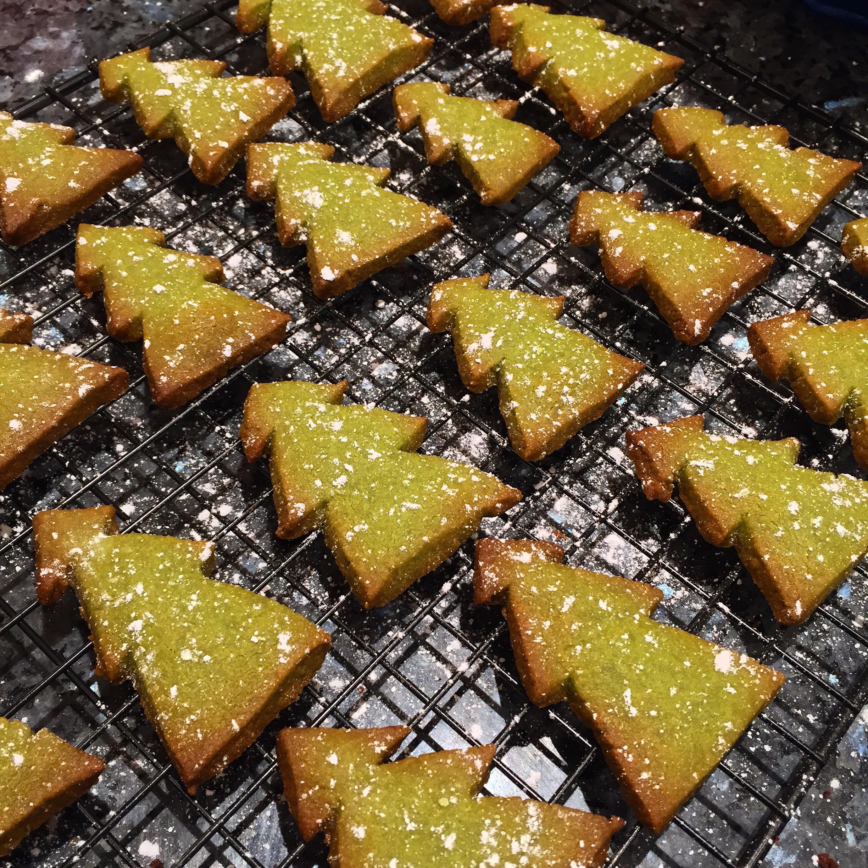 Bake Matcha Shortbread Cookies Thepetitepeony
